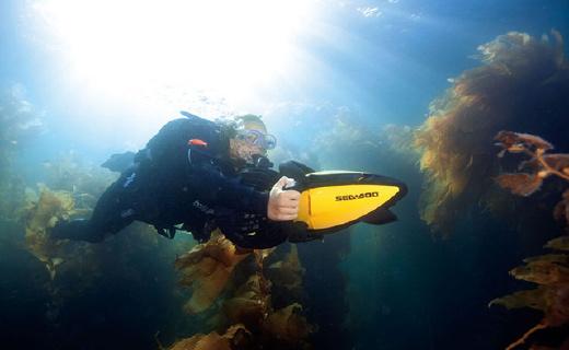 就讓這個小巧高續航的Sea Doo潛水器帶你遨游大海