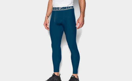 安德玛男士HeatGear压缩裤:加快代谢乳酸,延迟双腿疲劳