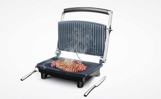 Nathome烤肉机:不粘涂层双面炙烤锁住美味,在家轻松做烧烤