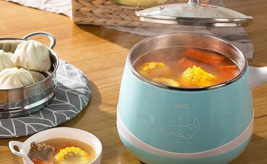 SKG韓式電熱鍋:雙重溫控多功能,分離式鍋體易清洗