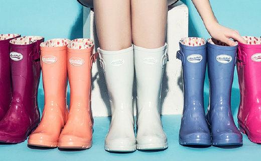 Rockfish Wellington女士雨鞋:天然橡胶工艺?#23395;浚?#26228;天出街也靓丽