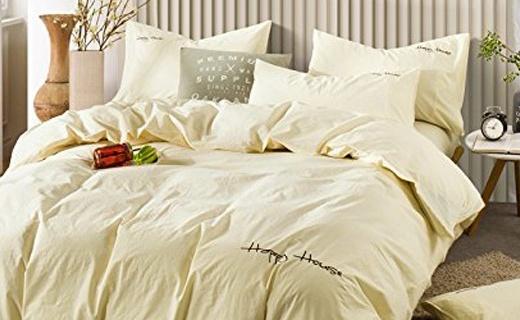 可慕家紡四件套:水洗棉干爽舒適,寧靜配色安享睡眠