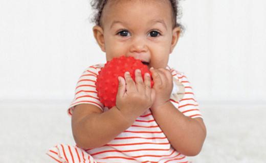 嬰智寶紋理球套裝:安全無毒材質放心使用,不同紋理開發寶寶觸感