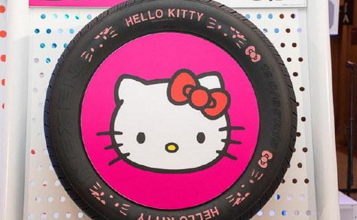 保时捷御用轮胎公司推Hello Kitty款,好粉红