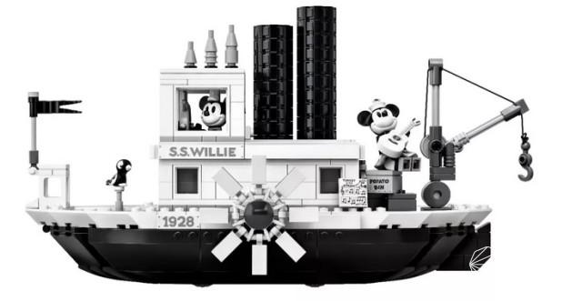 童年回忆来袭!乐高推出米奇威利号汽船模型,预计愚人节亮相