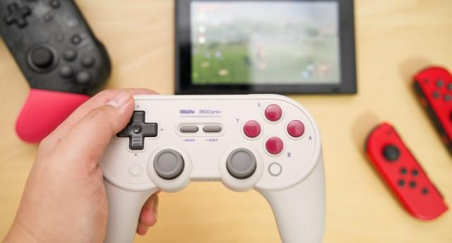 手感功能PLUS,八位堂進化體手柄 SN30 Pro+