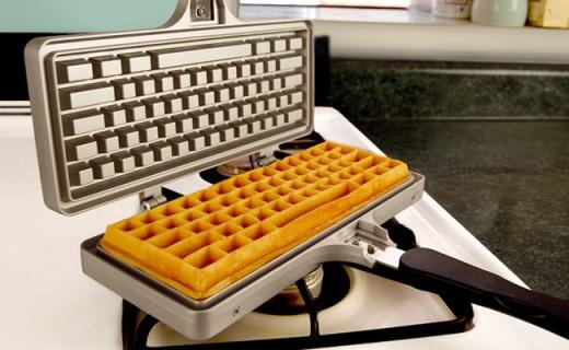 有了這個華夫餅神器,從此可以直播吃鍵盤了