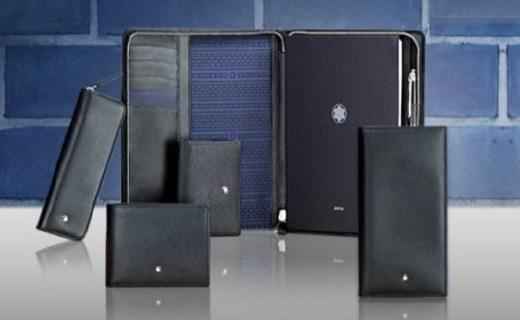 万宝龙 MONT BLANC 钱包:小牛皮材质触感舒适,对折设计经典简约