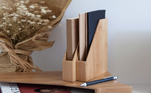 梵瀚文件收纳盒:天然楠竹美观典雅,稳固收纳超方便