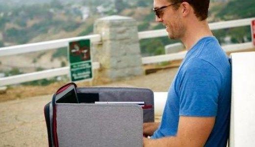 可以變形移動辦公桌的電腦包,大容量超輕便!