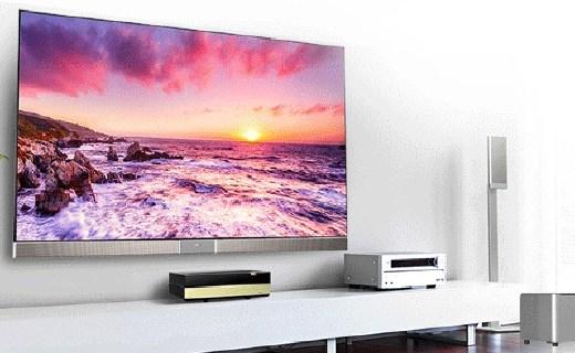 海信4K激光投影電視,100吋大屏還能看IMAX 3D
