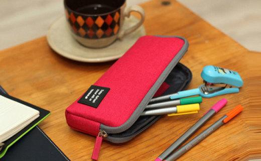 umi帆布鉛筆盒:防水陽離子面料結實耐用,大空間收納超方便