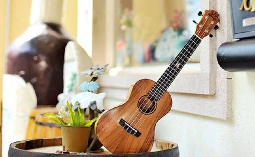 UMA尤克里里:桃花芯木搭配意大利琴弦,学习乐器不错的选择
