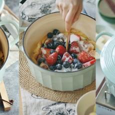 神仙颜值的珐琅锅:锁水防溢好清洗,有它轻松搞定各式料理~