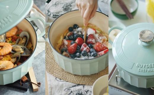 神仙顏值的琺瑯鍋:鎖水防溢好清洗,有它輕松搞定各式料理~
