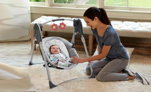 Graco嬰兒秋千:專為寶寶睡眠設計,解放媽媽的雙手