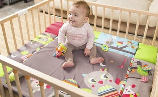 Badabulle多功能嬰兒軟墊:德國原裝進口,可作折疊床使用