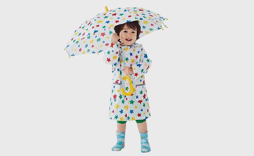 SkipLand兒童雨衣:配熒光帶,雨天更安全