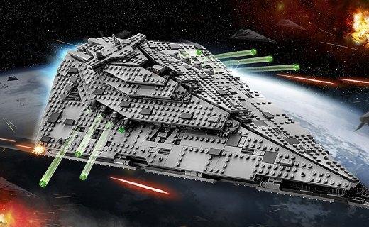 乐高星战系列积木玩具:星战8同款歼星舰震撼来袭,精致细节