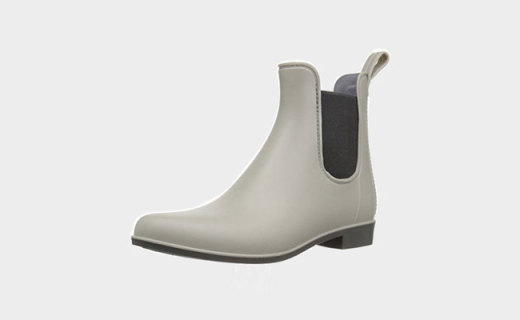 Sam Edelman Tinsley女士雨靴:亮面PVC橡胶制作,典型切尔西英伦风