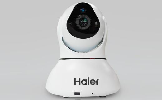 海爾WSC-570W攝像頭:雙馬達多角度旋轉,紅外夜視雙向語音