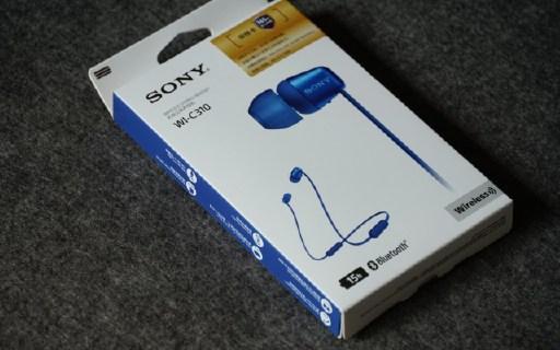 高聲價比的入門級藍牙耳塞神器 索尼WI-C310評測