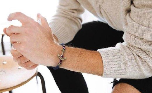 KJP手工編織手鏈:純手工編織,濃郁海軍風