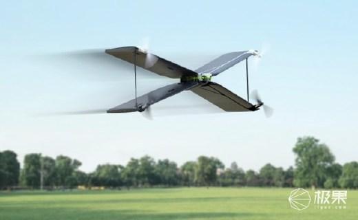 派诺特Swing飞机器:四旋翼双飞行模式,陀螺仪连贯稳定