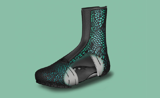 能自动?#35270;?#33050;掌的3D打印靴子,穿上超合脚