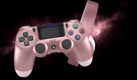 「新東西」全新玫瑰金,索尼推出4款新配色PS4手柄