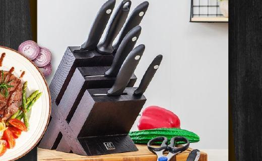 双立人套刀:高温锻造锋利刀?#24515;?#25243;刀背,多功能专刀专用