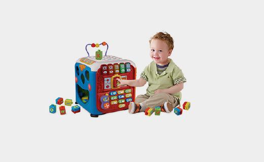 Vtech学习智立方:按压琴键设计,可认知字母还能锻炼宝宝说话能力