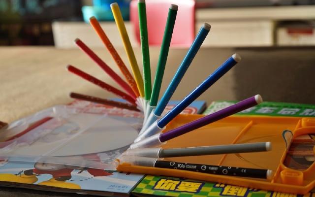再也不怕丢笔帽!法国进口BIC Kids 易水洗水彩笔