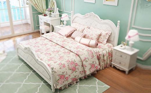 儷莎公館雙人床:滾床單不毀情趣的靜音床架,田園風溫馨居家