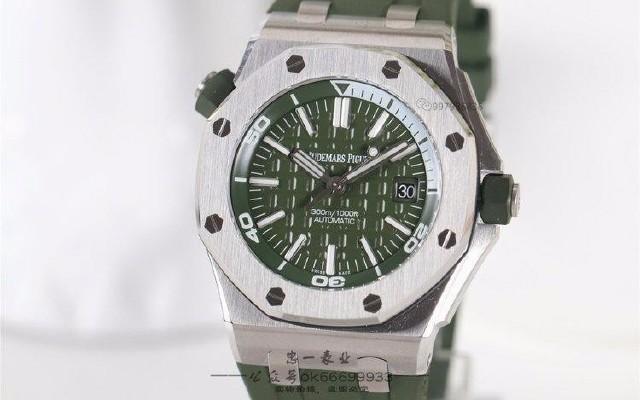 忠一表業:超好看的軍綠色愛彼15710ST腕表