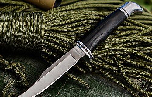 巴克小直刀:BOS熱處理保證硬度,不銹鋼刀刃檀木刀柄