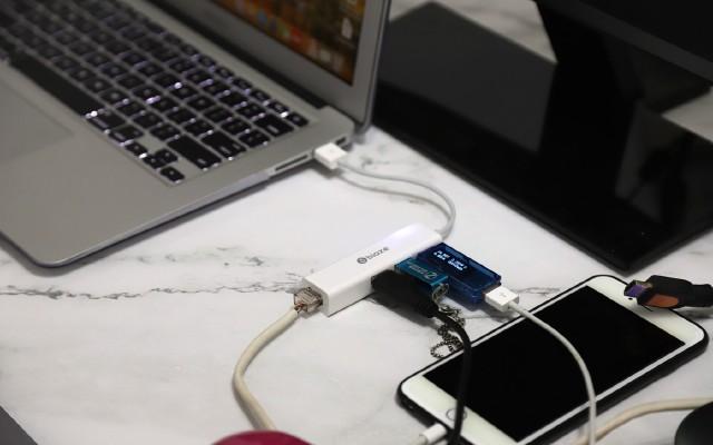 轻薄本好伴侣,毕亚兹USB转网口带3口USB转接头评测