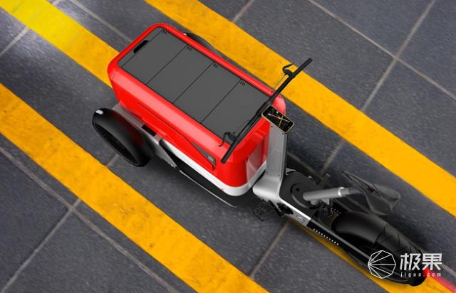 """老外设计电动快递车,解决最后""""一公里"""",网友:这不就是倒三轮?"""