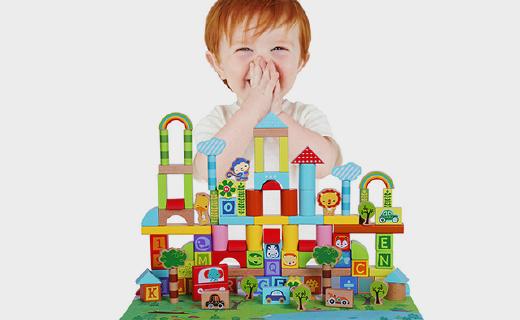 看似简单的费雪婴儿早教积?#25937;?#33021;锻炼逻辑思维能力,纯天然材质超安全