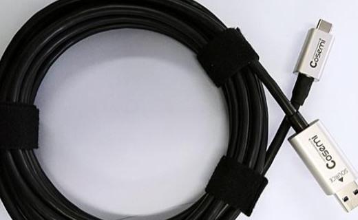 50?#20934;叮?#20219;意方向10Gbps传输!Cosemi发布首款USB混合有源光缆