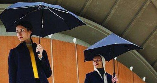 Senz Original不規則抗暴風雨傘:不對稱傘面更抗風,UPF+50不怕曬