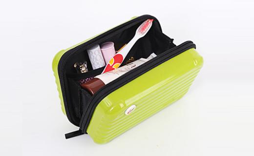 優集品收納包:堅固耐用ABS+PC材質,可愛行李箱造型獨具個性