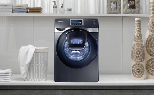 三星新款蝶窗洗烘一體機,隨時添加遺漏衣物