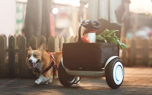 小米新款平衡车,自动跟随还能遥控,买菜神器