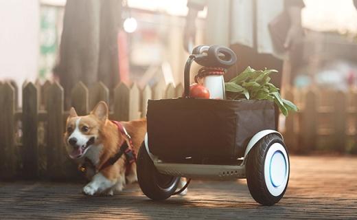 小米新款平衡车,自动跟随还能???,买菜神器