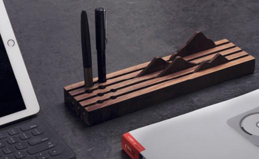 苏州博物馆文具置物座:实木材质,别致造型与众不同