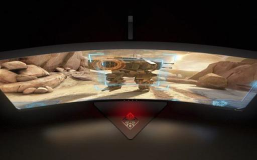 惠普34英寸曲面电竞显示器,100Hz高刷新率