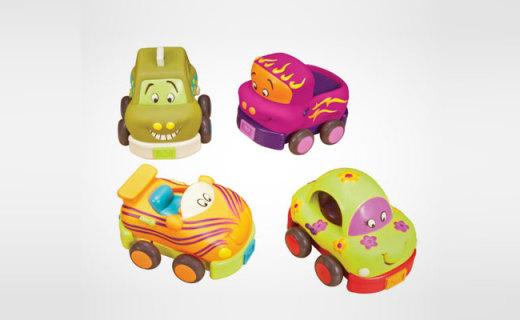 B.toys卡通車:柔軟材質安全無毒,生動有趣孩子玩不夠