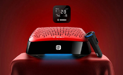 Bosch车载空气净化器:四重滤网高效净化除异味,还能检测空气