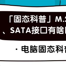 「固態科普」M.2接口、SATA接口有啥區別?